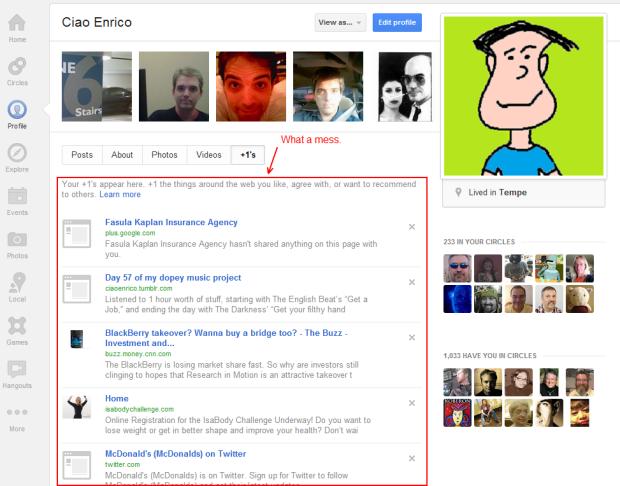 Ciao Enrico - Google +1